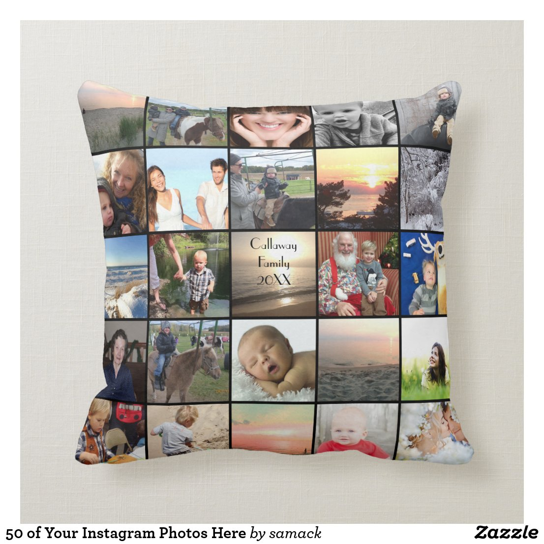 Instagram Photos Cushion