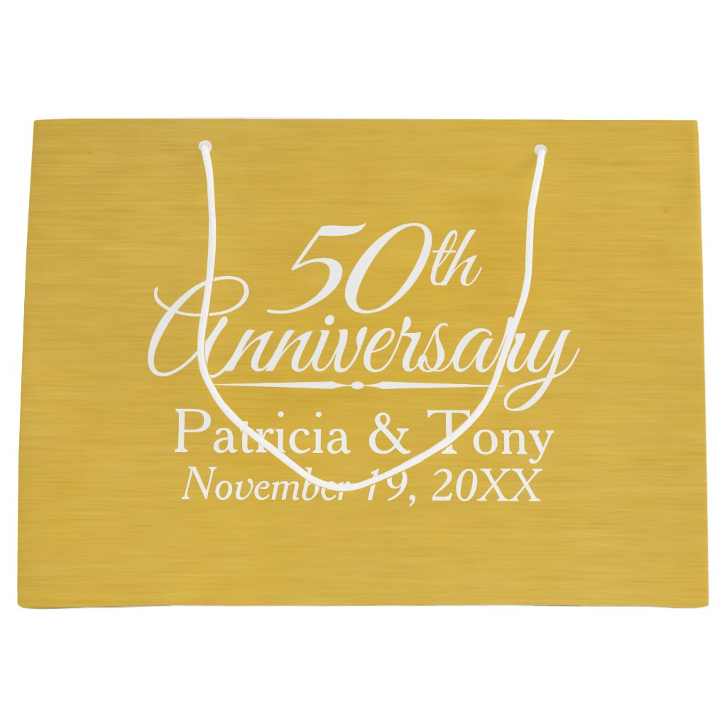 50th Wedding Anniversary Gift Bag