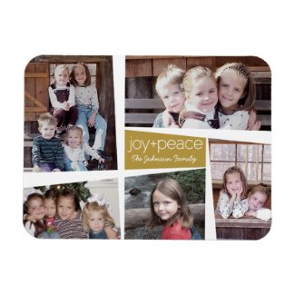 5 Photo Holiday Collage Magnet
