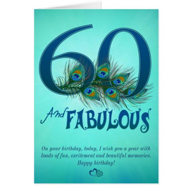 60th Birthday template Cards