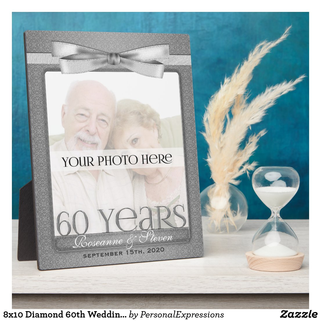Diamond 60th Wedding Anniversary Photo Frame