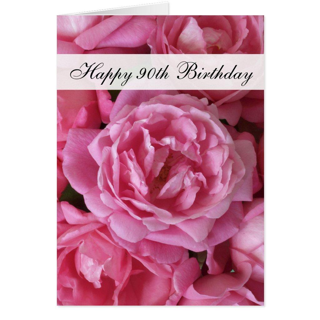 90th Birthday Card