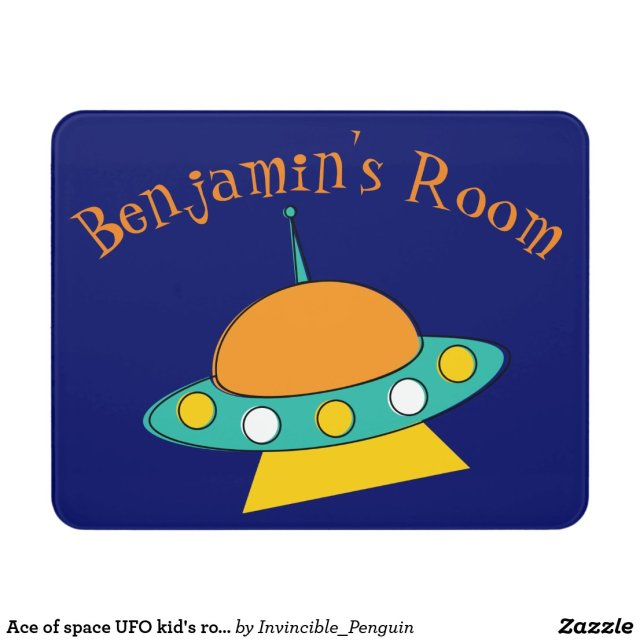 Ace of space UFO kid's room sign
