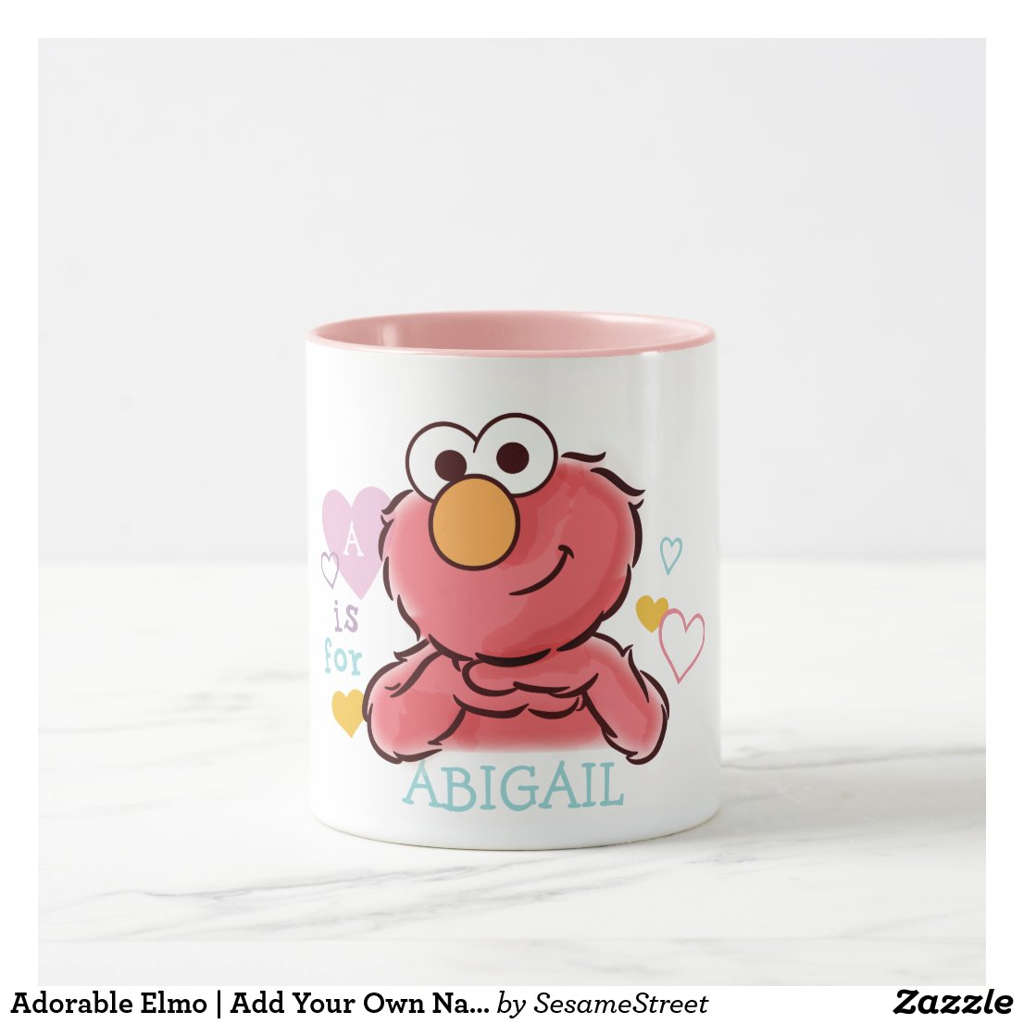 Adorable Elmo | Add Your Own Name Mug