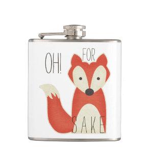 Amusing Oh! For Fox Sake Hip Flask