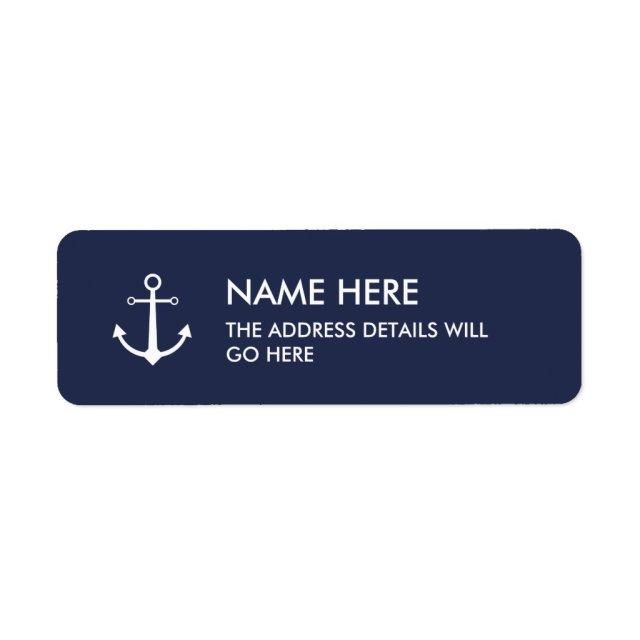 Anchor address label