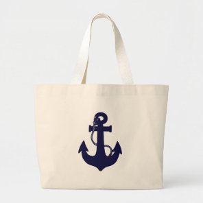 Anchor design large tote bag