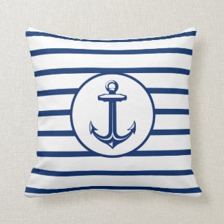 Anchor Navy Blue Cushion