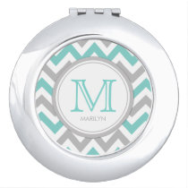 Chevron Monogram Vanity Mirrors