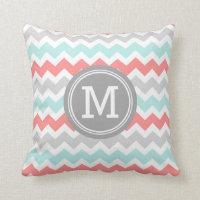 Chevron Monogram Decorative Pillow
