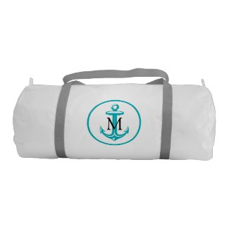 Anchor and Monogram Gym Bag