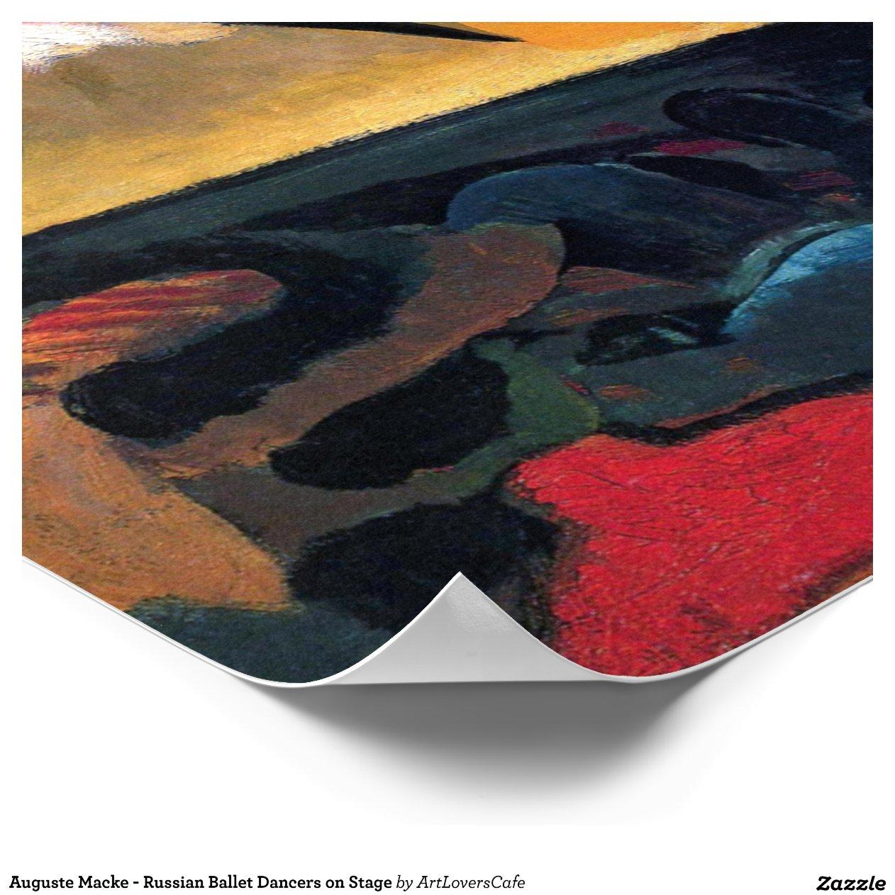 Auguste Macke - Russian Ballet Poster Zazzle