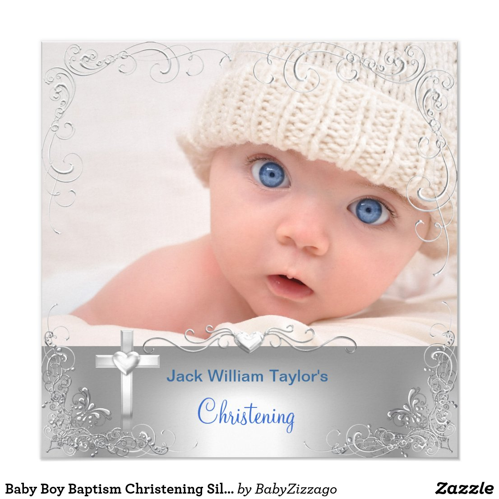 Baby Boy Baptism Christening Silver Cross
