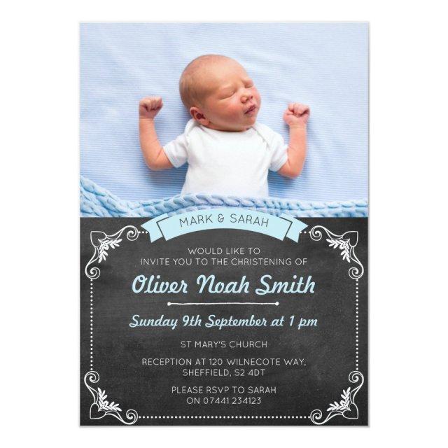 Baby Boy Christening/Baptism Invitation
