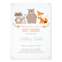 Baby Shower invite Woodland Animals Forest