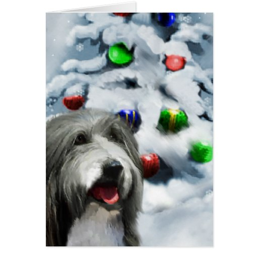 Bearded Collie Christmas Gifts Greeting Cards Zazzle