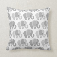 Beautiful Baby Elephants Throw Pillows