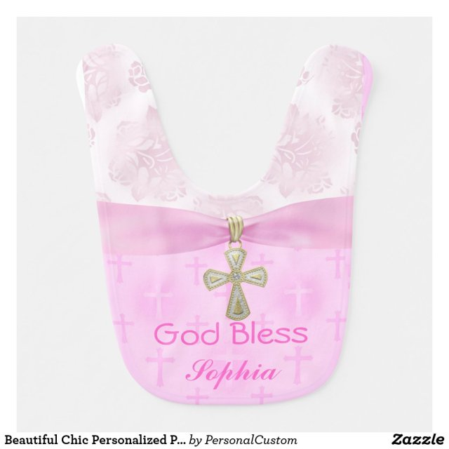 Personalised Christening Bib