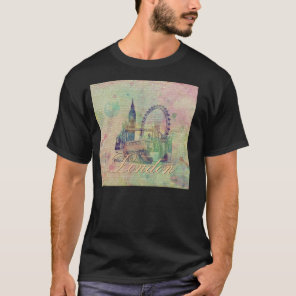 Beautiful trendy Vintage London Landmarks T-Shirt
