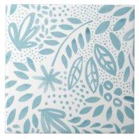 Floral Bathroom Ceramic Tiles | Zazzle.co.uk