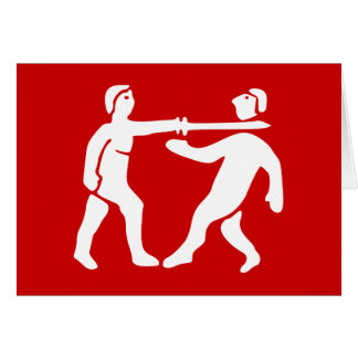 Benin Empire Flag / Emblem Card
