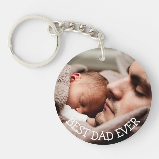 Best Dad Ever Personalised Photo Key Chain
