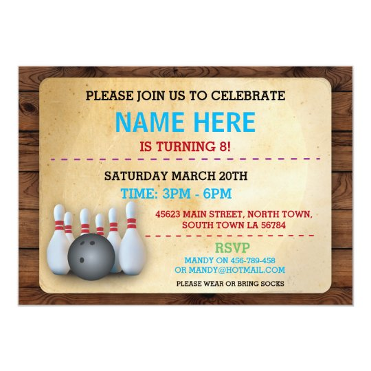 birthday bowling invite party