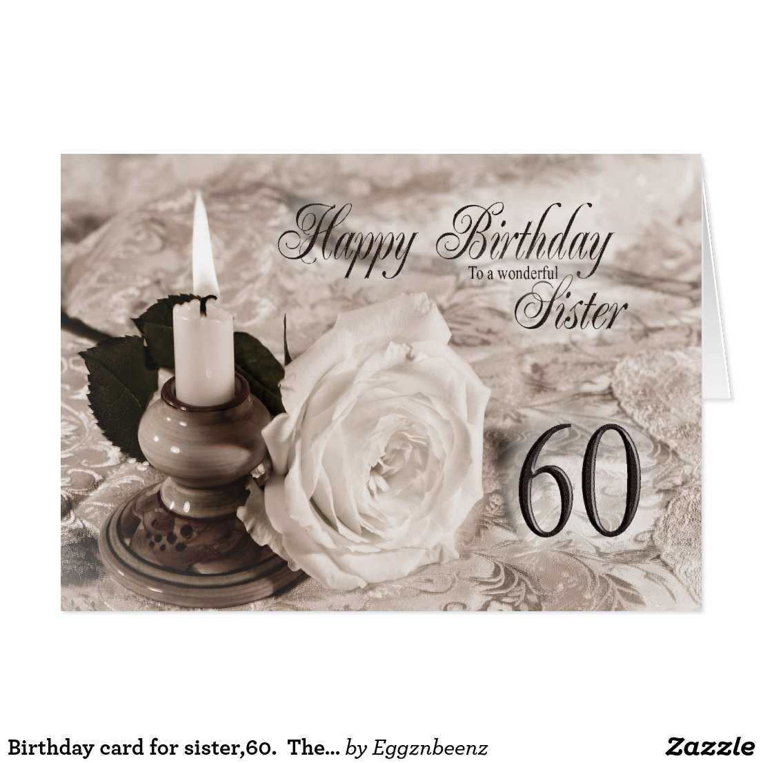 Birthday card for sister 60