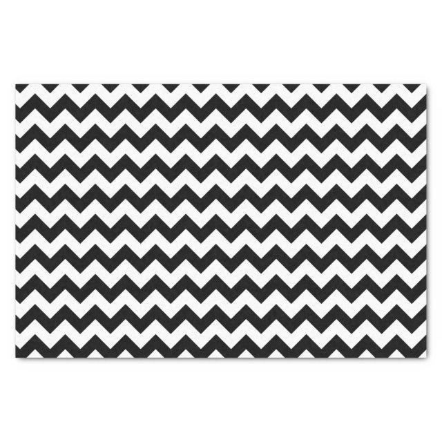 Black and White Classic Chevron Traditional Design Tissue Paper