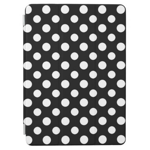 Black and White Polka Dot iPad Case