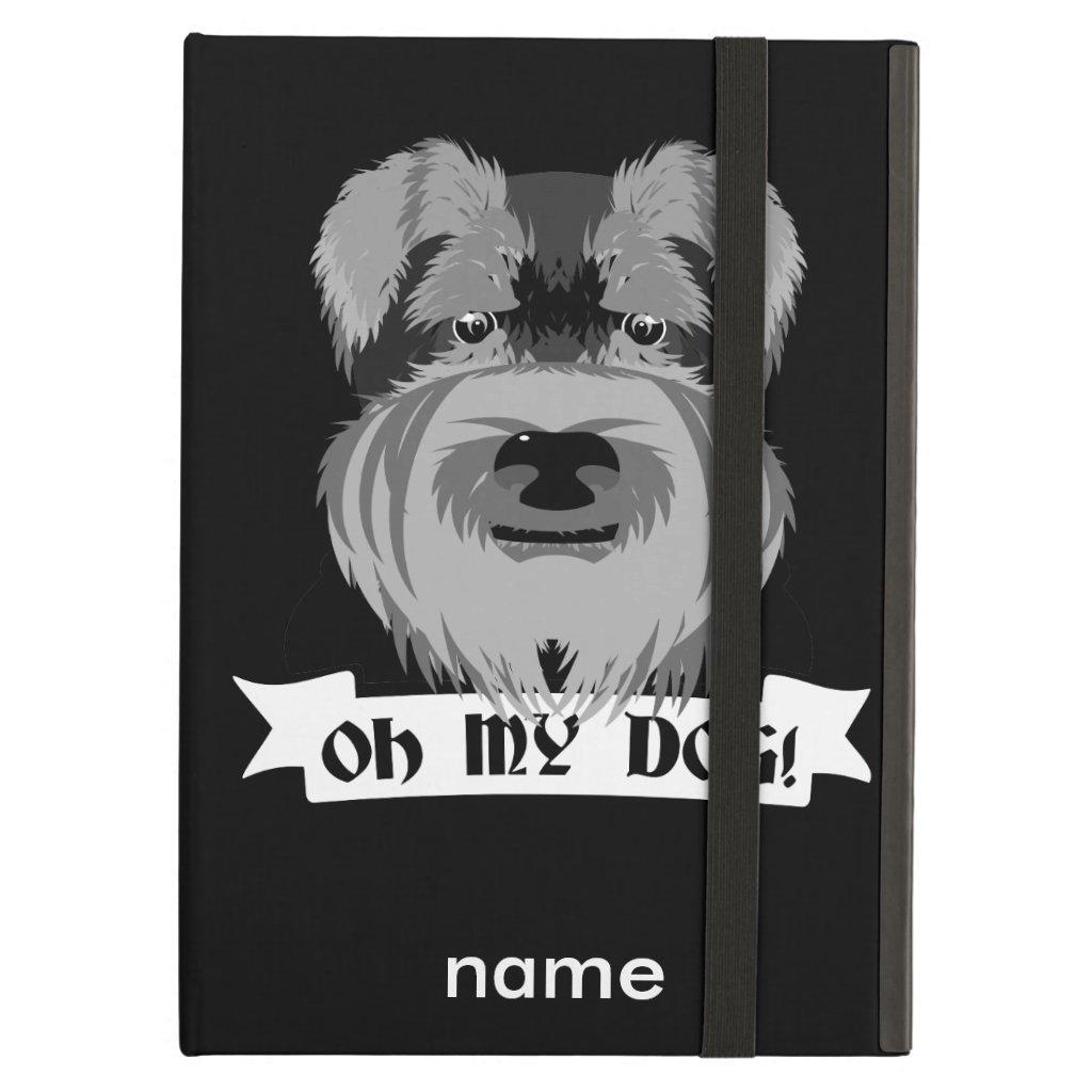 Black and White Schnauzer Oh My Dog iPad Case