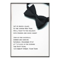 Black Tie Affair New Years Eve Invitations | Zazzle