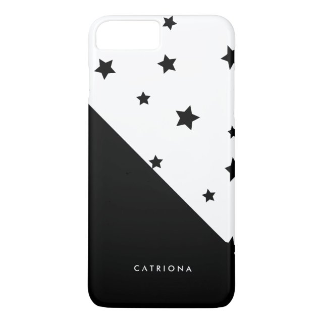 Black & White Stars Patten Abtract Personalised iPhone Case