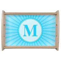 Blue Sun Monogram Personalised Serving Tray