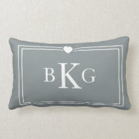 Border Frame Heart Pillow