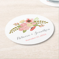 Botanical Flower Paper Coasters