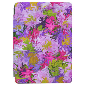 Bouquet of Colours Floral Abstract Art Design iPad Air Cover