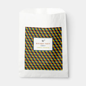 Bright Geometric Pattern, Modern Birthday Party Favour Bags
