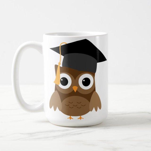 Brown Owl with Graduation Cap Graduation Mug