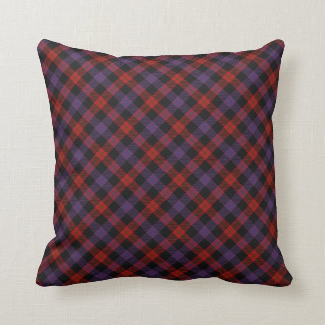 Brown Scottish Clan Tartan Throw Pillow