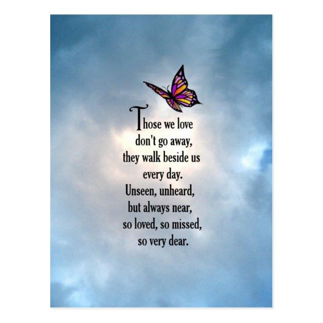 "Butterfly ""So Loved"" Poem Postcard Zazzle Co Uk"