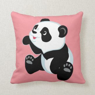 cartoon panda cushion