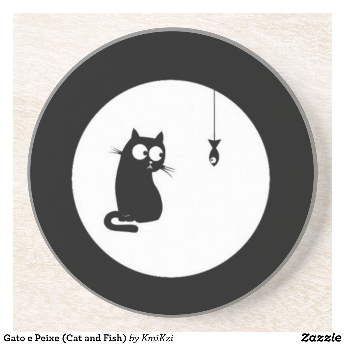 Cat and Fish Coaster