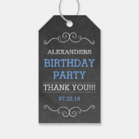 Chalkboard Birthday Party Gift Tags