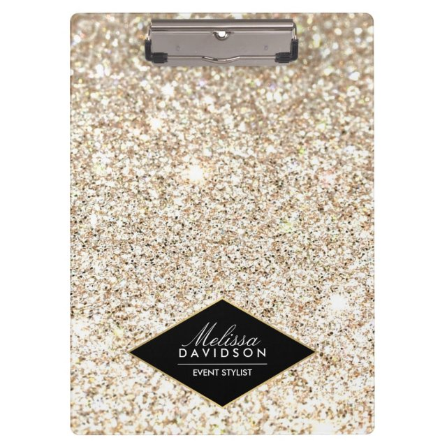 Champagne Gold Glitter and Glamour Personalised