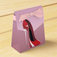 Champagne Heel Red Stiletto Shoe Favor Box