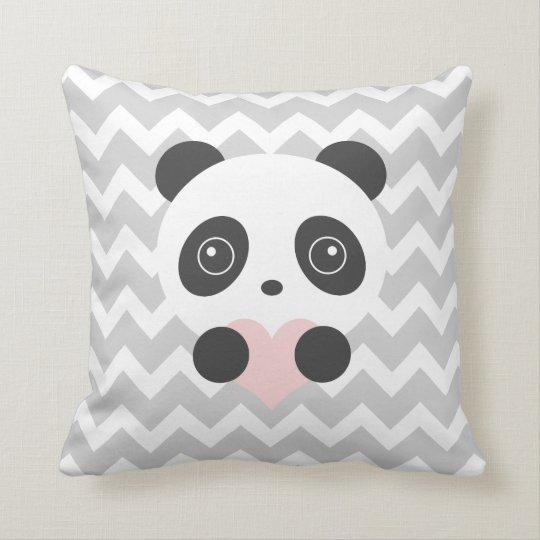 Panda Heart Cushion