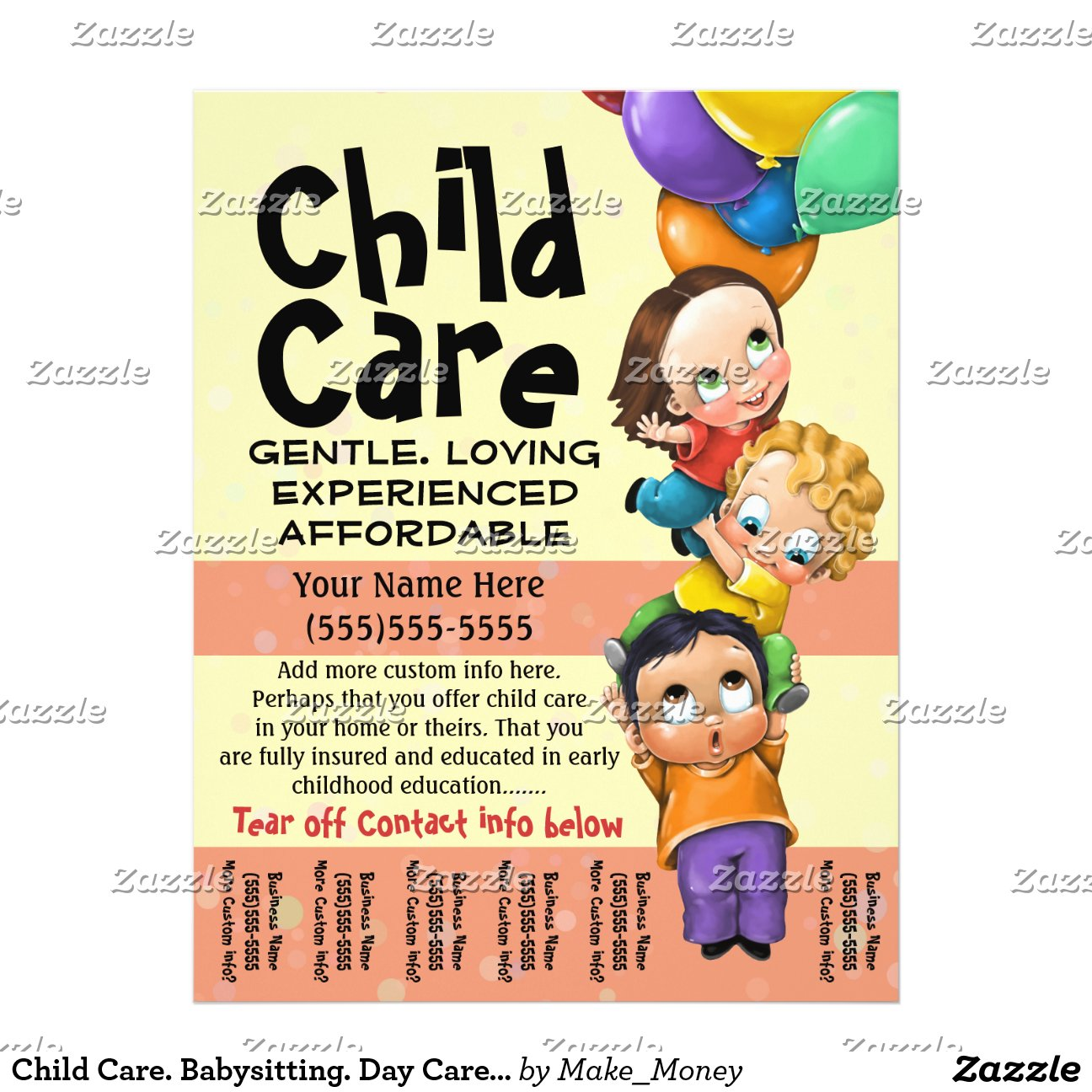 Babysitting Flyer Template Tear Off