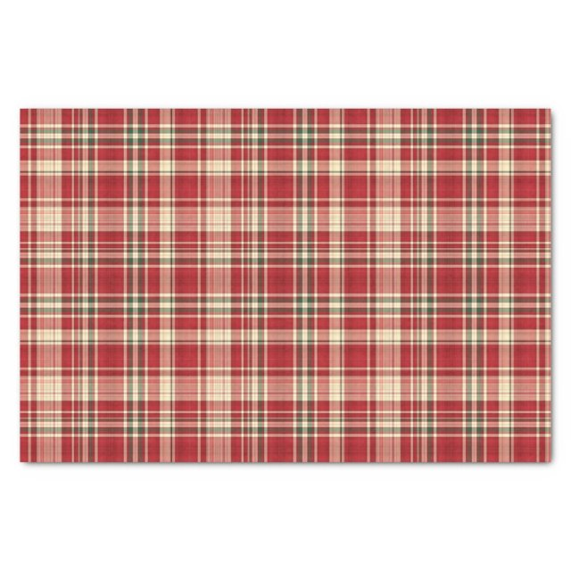 Christmas Plaid 23-TISSUE WRAPPING PAPER
