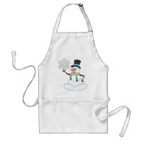 Christmas Snowman Holiday cartoon apron